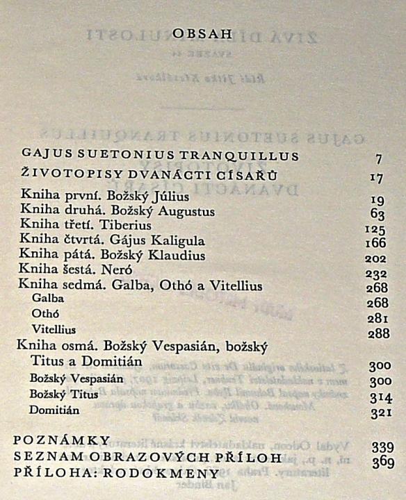 Zivotopisy Dvanacti Cisaru Gaius Suetonius Tranquillus
